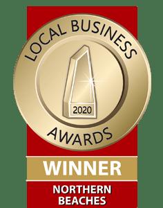 2020 Northern Beaches Local Business Awards Winner
